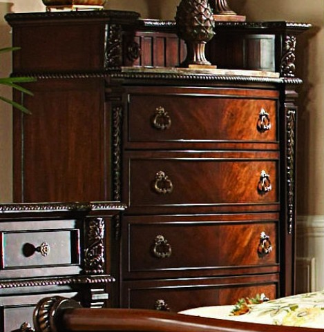 Palace Rich Brown Marble Insert Chest