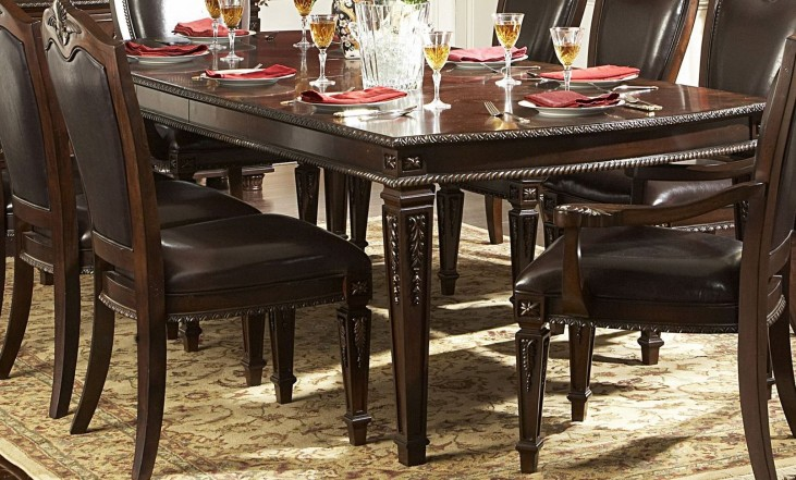 Palace Rich Brown Extendable Dining Table