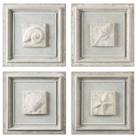 Matira Stone Wall Art Set of 4