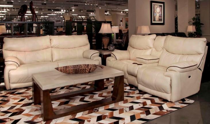 Larkin Buff Power Reclining Living Room Set