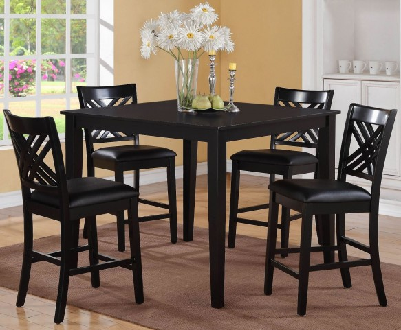 Brooklyn Dark Espresso Counter Height 5 Piece Dining Room Set