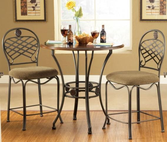 Wimberly Dark Cherry Round Dining Room Set