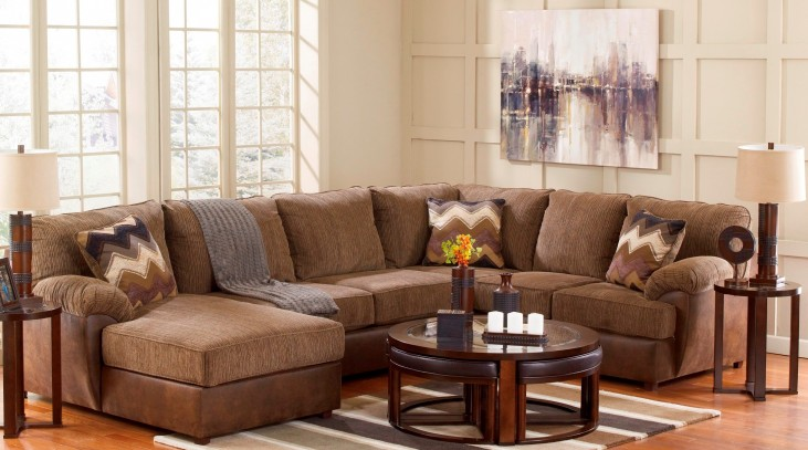 Cladio Hickory LAF Sectional