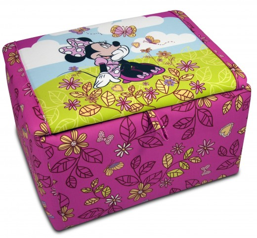 Disney's Minnie Mouse Cuddly Cuties Upholstered Storage Box