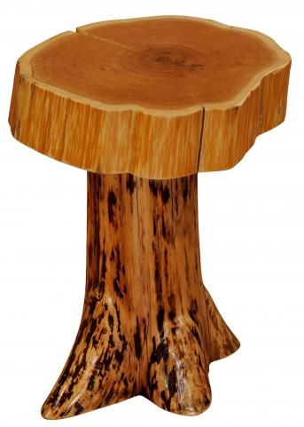 Cedar Slab Top Stump End Table