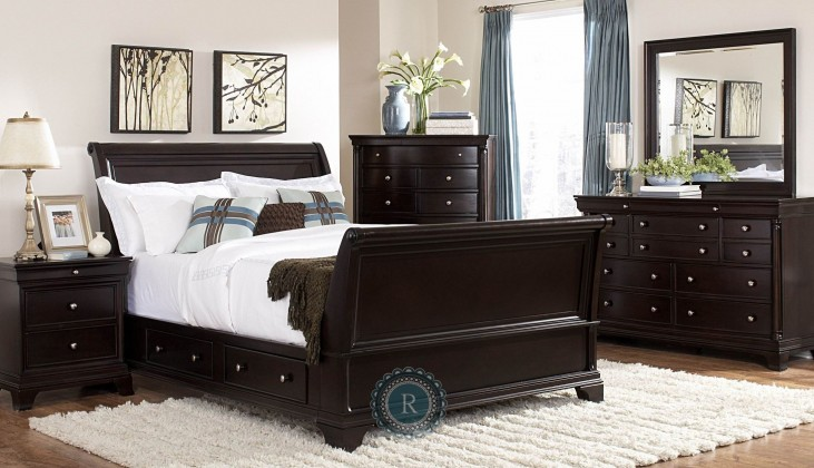 Inglewood Sleigh Storage Bedroom Set