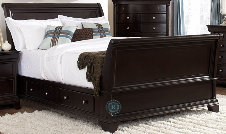 Inglewood White King Sleigh Bed