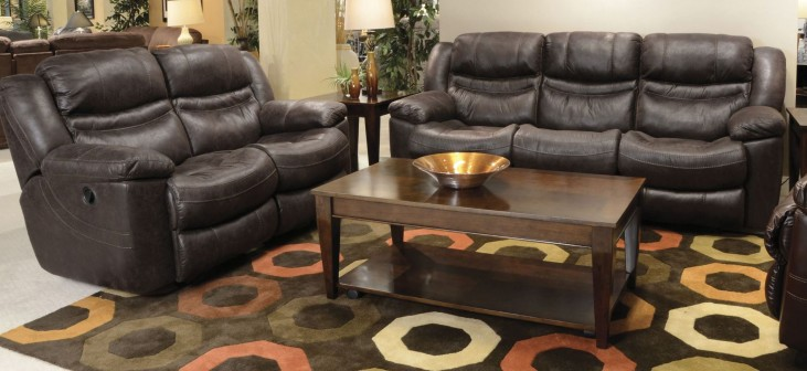 Valiant Coffee Reclining Living Room Set
