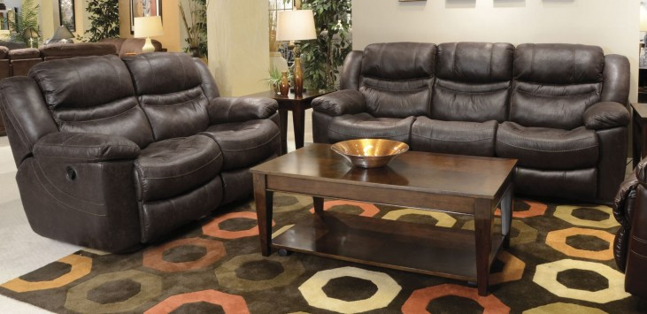 Valiant Coffee Power Reclining Living Room Set