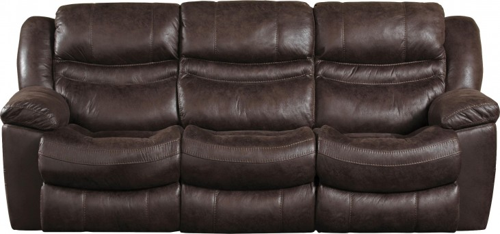 Valiant Coffee Reclining Sofa With Drop Down Table