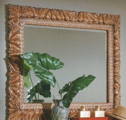 Palm Court Island Pine Mirror
