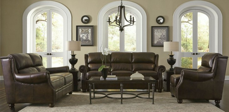 Appalachian Rustic Savauge Leather Living Room Set