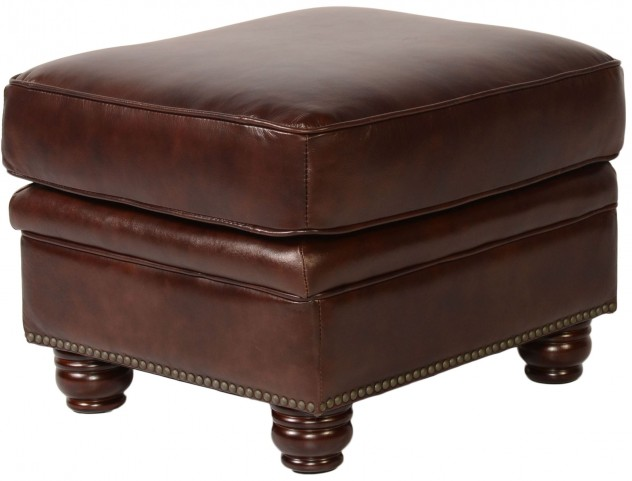 Appalachian Rustic Savauge Leather Ottoman