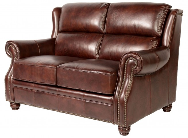 Appalachian Rustic Savauge Leather Loveseat