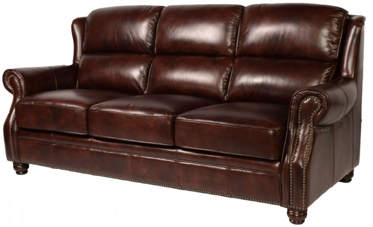 Appalachian Rustic Savauge Leather Sofa