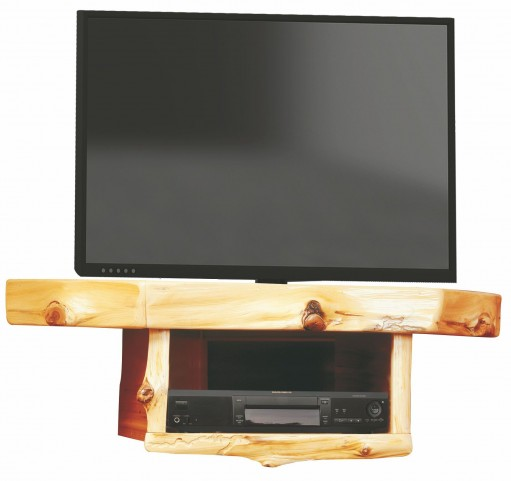 Cedar Corner TV Shelf with DVR/DVD Player Shelf