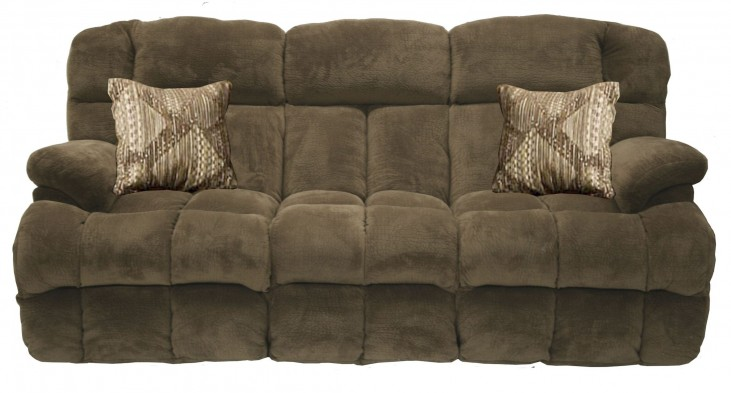 Concord Pecan Power Reclining Sofa