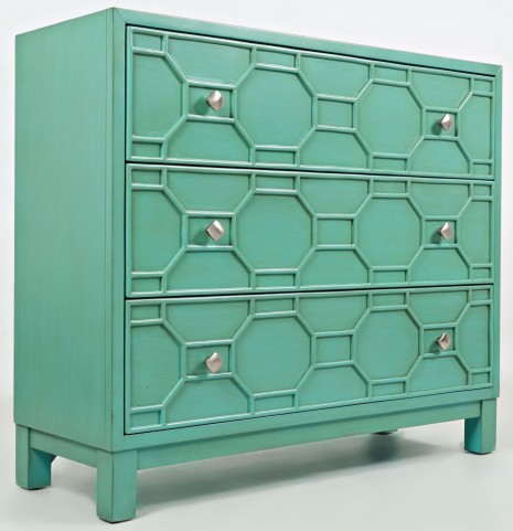 Matrix Turquoise Accent Chest