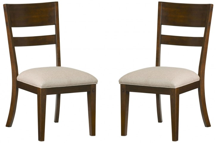 Cameron Golden Tobacco Brown Side Chair Set of 2