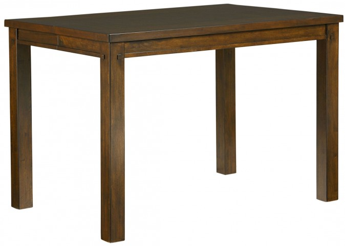 Cameron Golden Tobacco Brown Square Counter Height Dining Table