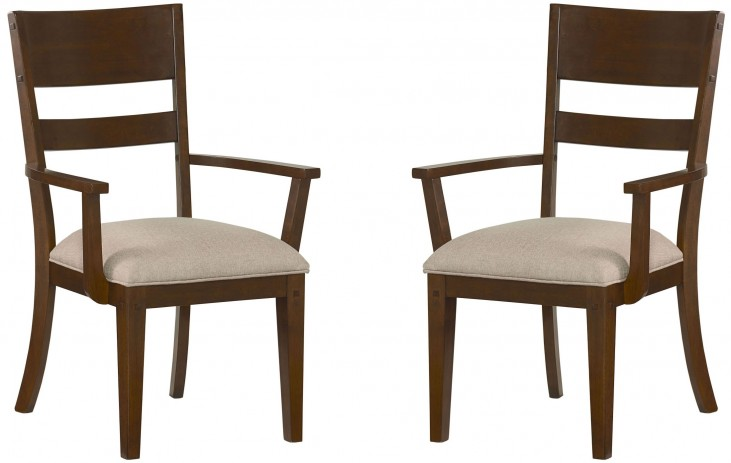 Cameron Golden Tobacco Brown Arm Chair Set of 2