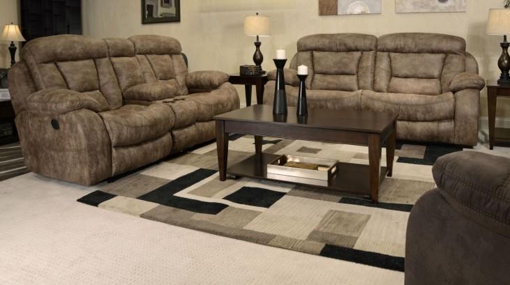 Desmond Mushroom Power Reclining Living Room Set