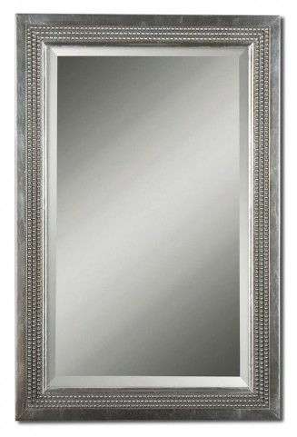 Triple Beaded Gray Vanity Mirror
