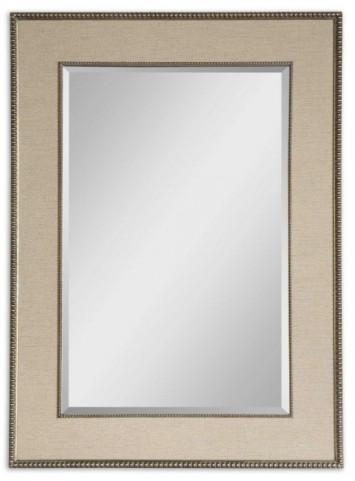 Marilla Beaded Silver Mirror