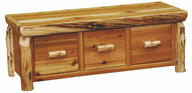 Cedar 3 Drawers Entry Bench