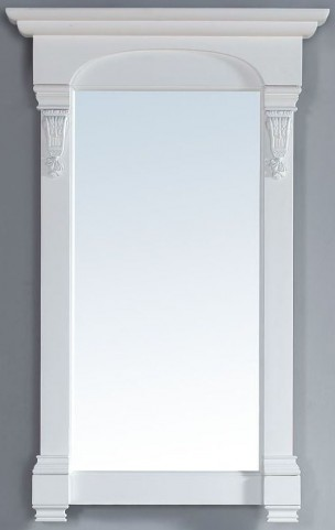 """Brookfield 26"""" Cottage White Mirror"""