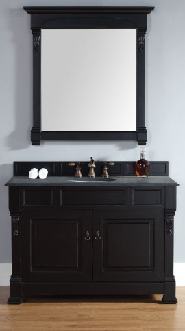 "Brookfield 48"" Antique Black Single Vanity Set"