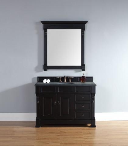 """Brookfield 48"""" Antique Black Single Vanity With 2Cm Black Granite Top"""