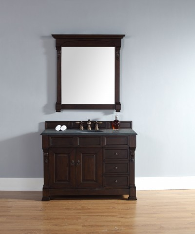"Brookfield 48"" Burnished Mahogany Single 2CM Top Vanity Set"