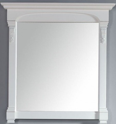"Brookfield 39.5"" Cottage White Mirror"