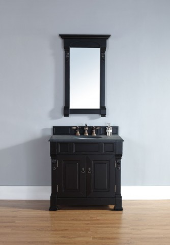 "Brookfield 36"" Antique Black Single 2CM Top Vanity Set"