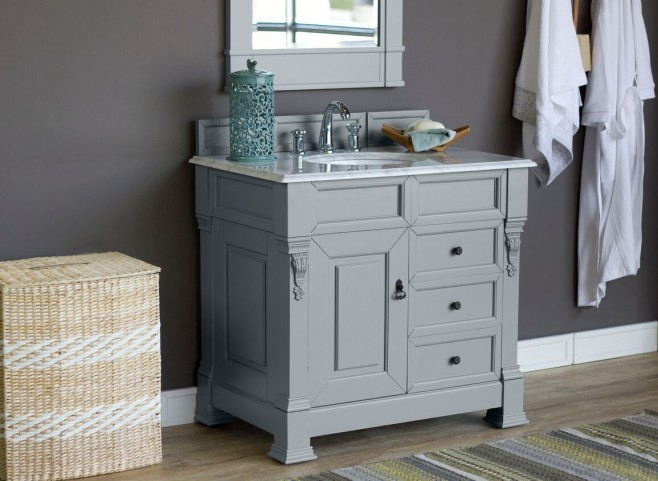 "Brookfield 36"" Urban Gray Single 2Cm Top Vanity"