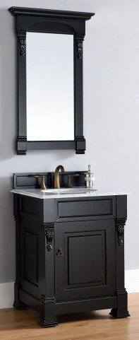 "Brookfield 26"" Antique Black Single 2Cm Top Vanity"