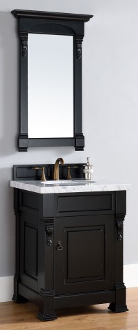 "Brookfield 26"" Antique Black Single 2CM Top Vanity Set"
