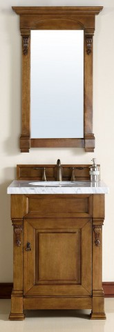 "Brookfield 26"" Country Oak Single 4CM Top Vanity Set"