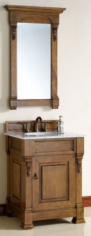 "Brookfield 26"" Country Oak Single 2CM Top Vanity Set"