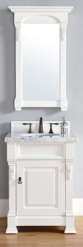 "Brookfield 26"" Cottage White Single 4CM Top Vanity Set"