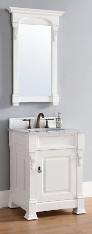 "Brookfield 26"" Cottage White Single 2Cm Top Vanity"