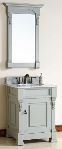 "Brookfield 26"" Urban Gray Single 2CM Top Vanity Set"