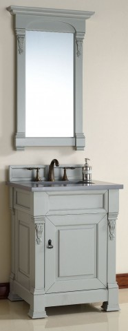 "Brookfield 26"" Urban Gray Single Vanity with 3CM Shadow Gray Quartz Top"