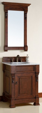 "Brookfield 26"" Warm Cherry Single 2CM Top Vanity Set"
