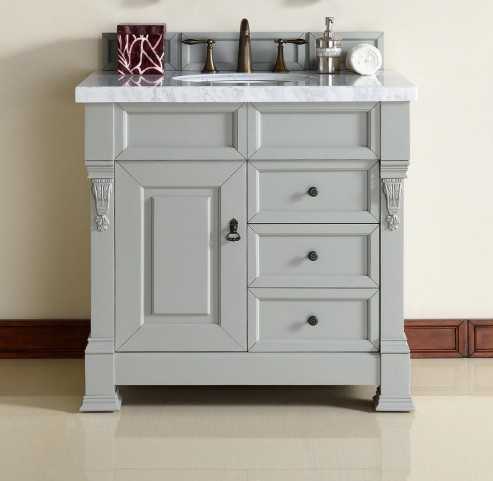 "Brookfield 36"" Urban Gray Single 4Cm Top Vanity"