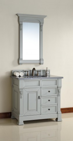 "Brookfield 36"" Urban Gray Single 3CM Top Vanity Set"