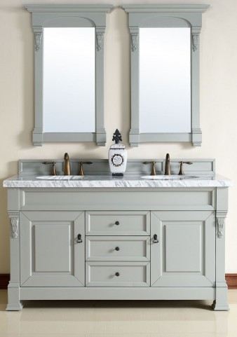 "Brookfield 60"" Urban Gray Double 4CM Top Vanity Set"