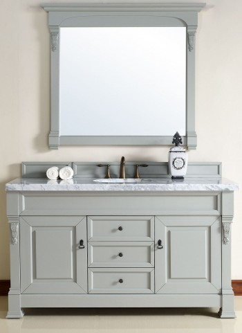 "Brookfield 60"" Urban Gray Single 4CM Top Vanity Set"