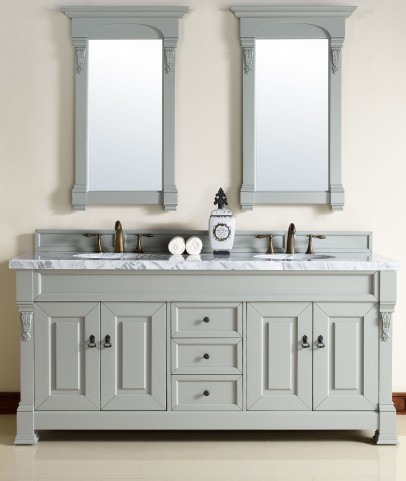 "Brookfield 72"" Urban Gray Double 4Cm Top Vanity"